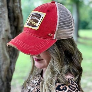85b7d79d567 Judith March Accessories - Judith March Football Mama Trucker Hat